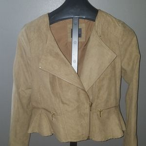 Limited Soft Suede Like Zippered Jacket/Blazer